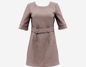 3D asset Brown Belt Dress