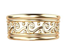 3D set Gold Ring