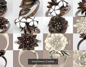 Great flowers 3D model