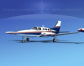 Cessna 414 Chancellor V08 3D model