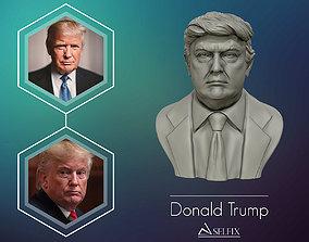Donald Trump 3D printable 3D Sculpture bust