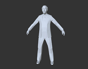 3D asset Low Poly Male People