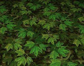 3D model ground leaf tile 12