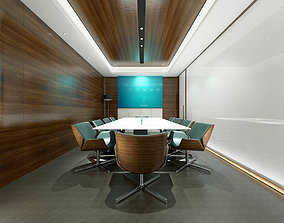 3D Conference room office reception hall 01