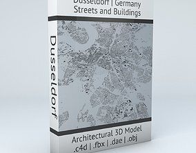 3D model Dusseldorf Streets and Buildings