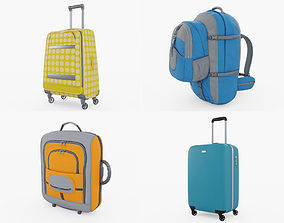 Luggage Backpack Collection 3D model