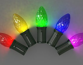 Bulb C7 Faceted 3D model game-ready
