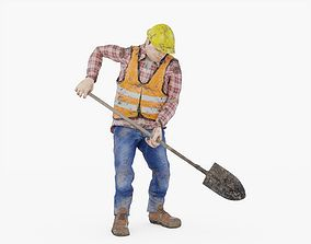 Construction Worker Animated 3D asset