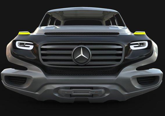 Prewiev Modeling Mercedes Ener G Force Concept 2012