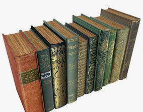 Old Books Type 10 Low Poly 3D asset