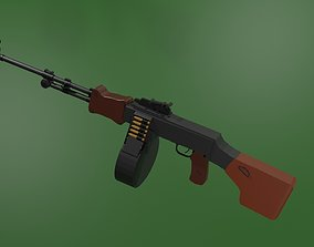 3D model RPD Degtyarev light machine gun