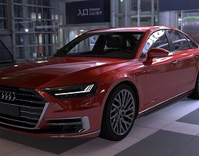 Audi A8 2018 3D asset game-ready