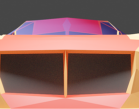 low poly car 3D model realtime racing