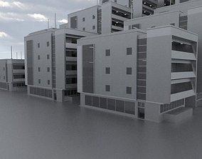 Residential Building Set 3D Model