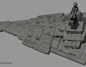 3D combat Imperial Star Destroyer Harrow