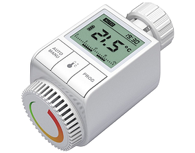 Digital radiator thermostatic valve 3D