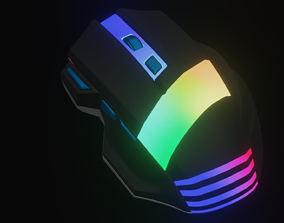 realtime 3d gaming mouse with RGB lights