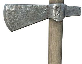 cutting 3D model game-ready Battle-Axe