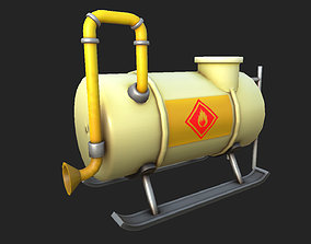 Stylized Gas Tank 02 3D model