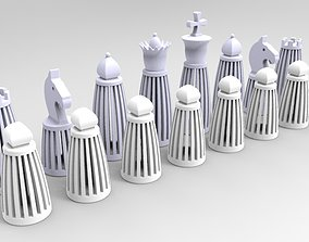 Chess Set 3D Print Model games-toys games