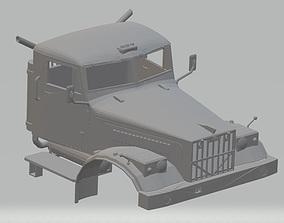 Kraz 255 Kipper Printable Cab Truck