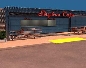 3D model Cafe Building