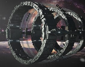 3D model outdoors Sci-Fi Space Station