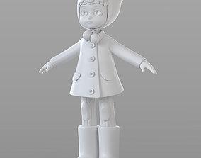 Cartoon Teen Girl Winter 3D model