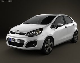 3D Kia Rio hatchback 5-door 2011 with HQ Interior