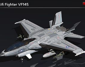 Scifi Fighter VF145 3D asset