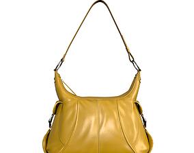 3D model Grained Leather Shoulder Bag