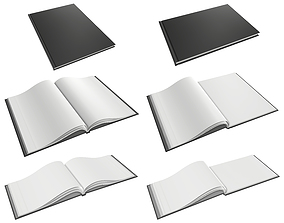 Albums A4 A5 size hardcover for mock-up 3D model