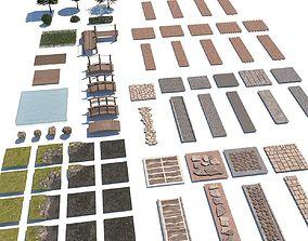 landscape pathways 3D model realtime