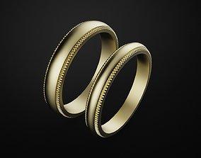 3D printable model Tiffany Milgrain wedding band ring