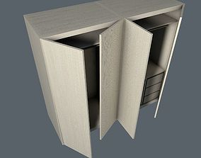 Cupboard contemporary 3D asset low-poly