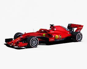 3D asset F1 2018 car