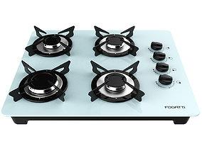 Fogatti Cooktop 4 Burners V400 White 3D