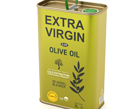 Olive Oil Can 3L 3D model