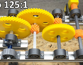 3D printable- High Torque Modular Gearbox