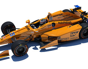3D model andretti Indycar Alonso 2017