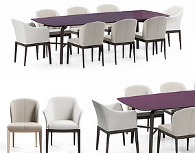 3D giorgetti normal and blade dining set