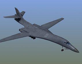 3D model low-poly B1B Bomber