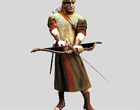 Roman archer 3D model
