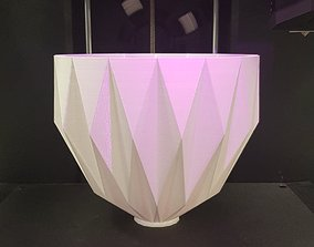 Folded lamp shade 3D printable model