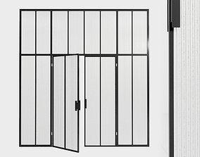 3D asset Glass partition door 90