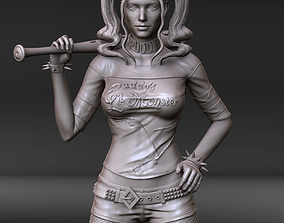 Harley Quinn 3D print stl and high poly