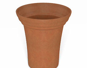 3D Flower Pot - Clay