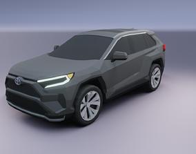 VR / AR ready Toyota RAV 4 2021 low poly 3D model