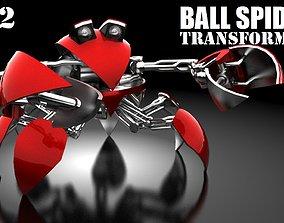 Ball-crab transformer VB-2 3D asset animated