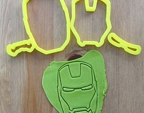 Iron Man cookie cutter for professional 3D printable model